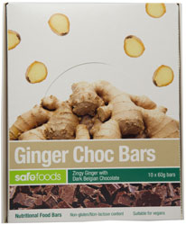Food Bars - Ginger Choc x 10 (Value Pack - no box)